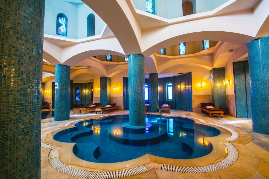 Spa relaxing pool