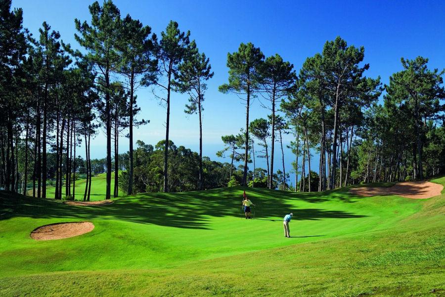 Hier verlieren Sie auf keinen Fall den Überblick! Denn der Palheiro Golfplatz liegt 500 Meter über der Bucht von Funchal, auf den herrlichen Gebirgsausläufern Madeiras.