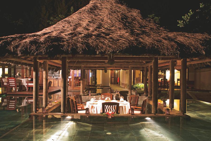 Villa - Outdoorbereich nachts