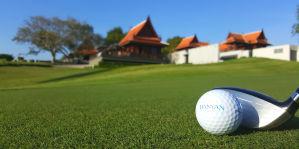 Golfplatz und Club House