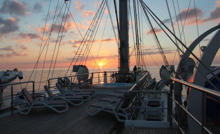 Abendstimmung an Bord