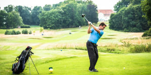 Golfplatz mit Hotel