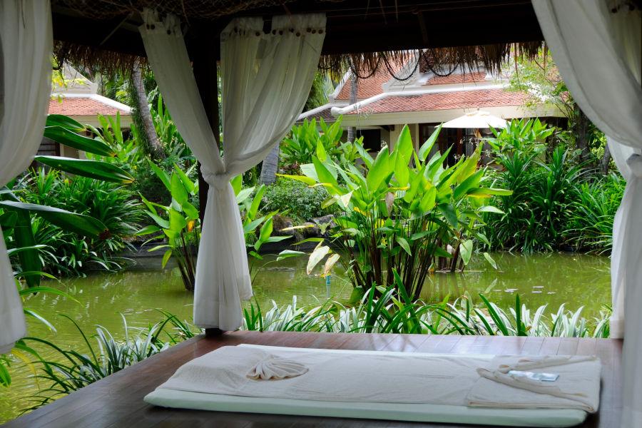 Massage im Garten