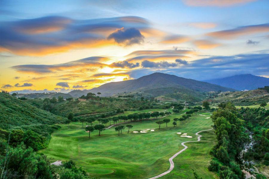 Blick auf den America Golfplatz