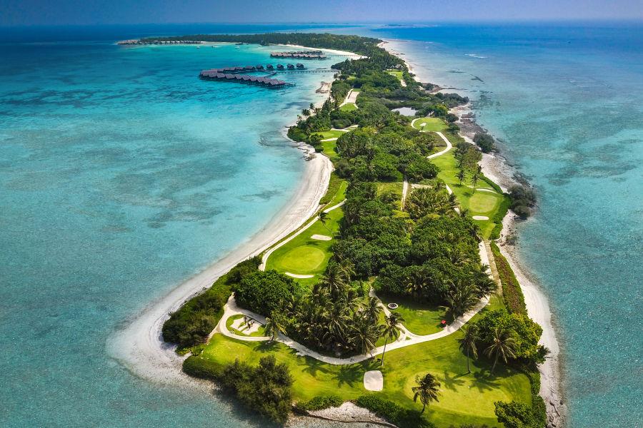 Vogelperspektive Golfplatz