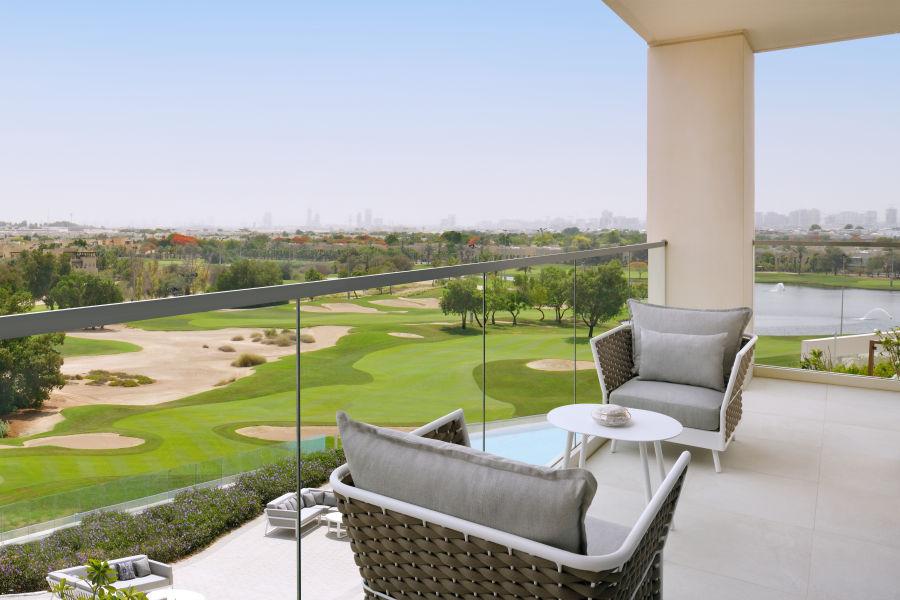 Terrasse mit Golfblick