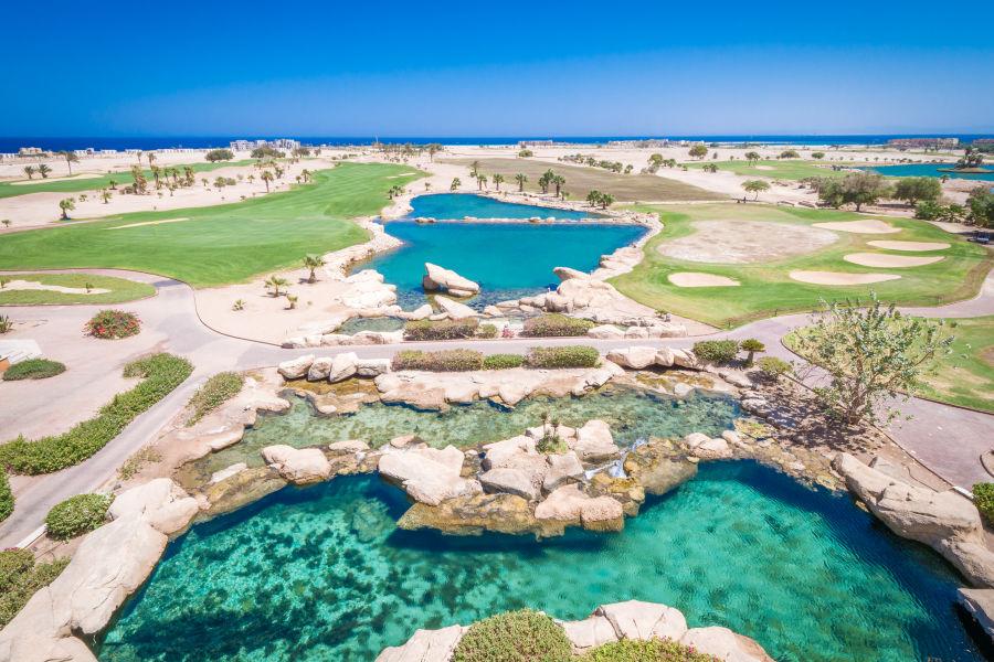 Golfplatz Vogelperspektive